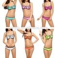 nuevo 2015 estructurado brillante traje de neopreno de neopreno traje de baño bikini