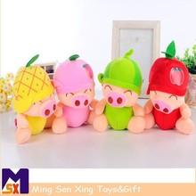 McDull Pig Plush Doll fruit Plush Doll multicolor cartoon pig doll