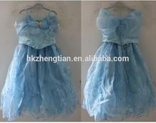 2015 new movie 's child Fair Tale Girls Children Cosplay Costume Cinderella Princess party dress kid costume