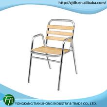 hot salling aluminum hotel furniture/easy cleaning aluminum arm chair