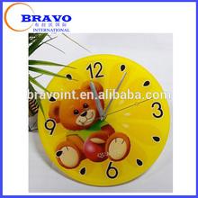 Acrylic wall decorations wall clock display with animal image