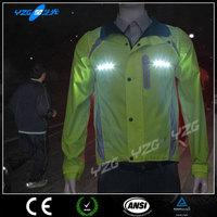 hi vis men sport jackets with LED light
