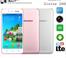 """DHL free shipping Lenovo S90 4G FDD LTE Cell Phone Qualcomm Quad Core 2G RAM 16G ROM 5"""" HD Screen Android 4.4 13MP"""