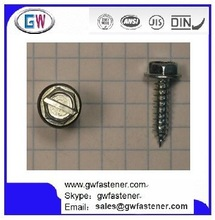 Sheet Metal Screws Slotted Indented Hex Washer Head
