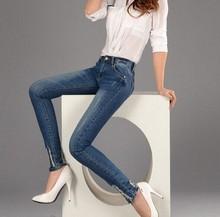 2015 jeans/denim women boot leg skinny and slim fit design jeans women