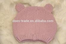 custom children beanie hat/beanie cap with flower designs knit/Children winter hat handmade