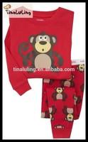 2015 lovers pajamas set monkey baby kids pajamas sleepwear