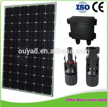 High Quality Mono Solar Panel 250w,250 watt solar panel,mini solar panel