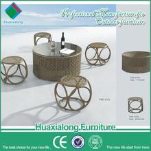 Muebles de jardín jardín de la rota bar set de playa mesa de bar y silla portátil FWE-632-1