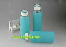 BPA Free Bottle Blue Glass Wwate Glass Sport Water Bottle For Hot Selling