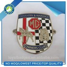 Metal hard enamel custom car badges emblems