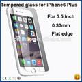 tendencias productos calientes buen precio para el iphone 6 plus 9H 0,33 MM accesorio del teléfono celular de vidrio templado pantalla protector 5.5 pulgadas