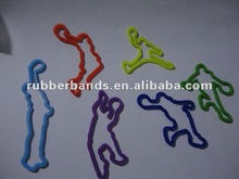 2012 new design animal shape silicone colour elastic rubber band for hair or beach and fishing rubber band aging resistance