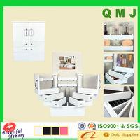 White meuble rangement bijoux jewelry storage cabinet