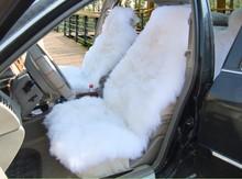 Warm sheep wool car seat cover