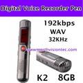 kbps 192 usb grabadora de voz con batería de litio recargable construido en