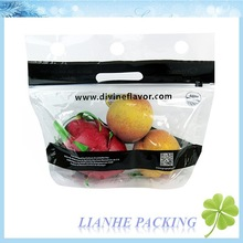 plastic Grape Pouch with Hang Hole fruit stand up pouch