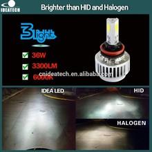 All In One 33W 3600LM H4 H7 H8 H9 H11 H13 9004 9005 9006 9007 high power led headlight bulb h7