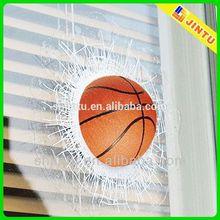 3d basketball shaped pvc magnet sticker, car window static sticker