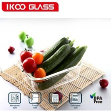 factory outlet rectangular glass waterproof food storage containers