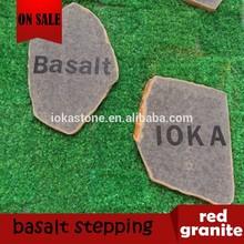 excellent outdoor natural garden basalt stepping stone,black basalt paver for garden,basalto,basalte