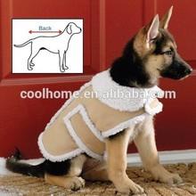 Shearling Fleece Dog Winter Coat Large dog clothes