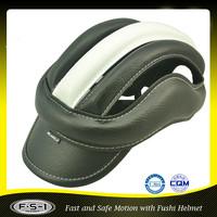 black PU leisure sport safety horse riding racing helmet