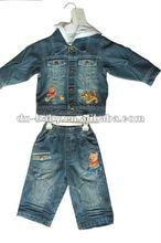fashion winter children's denim suits in 2012