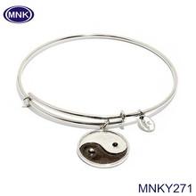 Metal Antique Silver Plated Bracelet Eco-friendly Yin Yang Bracelet