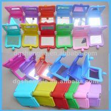 Cheap folding silicone makeup mirror handbag make up mirror