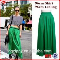 Elegant Women EXTRA FULL LONG Chiffon Maxi Skirt Fashion 2015