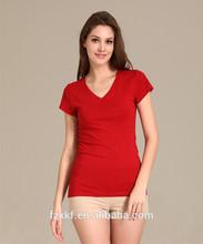 Red grey black white round neck fit v-neck t-shirt
