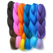 Sunny Queen Synthetic Rainbow colorful Jumbo braided hair weaving