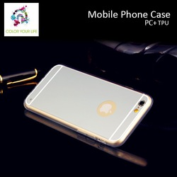 cellphone Shockproof Hybrid Case Mirror case for iphone
