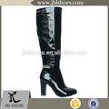 Simples cobra couro botas de inverno para as mulheres odm/ordem do oem