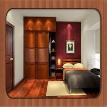 red cherry MFC finish modular bedroom wardrobe