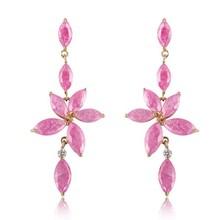 ghiaccio rosa cz orecchino dange e gioielli di collana