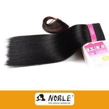 Henan Xuchang Rebecca 2015 black silky straight wholesale synthetic hair weaving