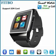 Global Popular MTK Pedometer SIM Android smart watch mobile phone