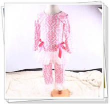 wholesale children's boutique toddler girls sets high quality pure cotton kids outfits