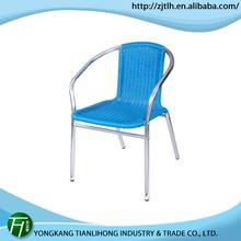 high quality aluminum outdoor rattan chair/outdoor modern dining chair rattan