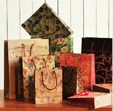 wholesale promotional printed kraft paper bag