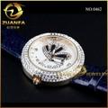 qualidade de couro real couro resistente à água do relógio de pulso relógios de titânio made in china