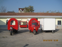 motor tricycle mobile food cart