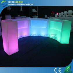 GLACS system led bar counter illuminated outdoor furniture