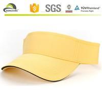 Top quality yellow cotton wide brim sun visor hat,velcro sun visor hat