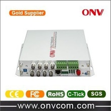 8CH Video Fiber Optic Transceiver with 1CH Reverse Data/ Audio/ Telephone/100M Ethernet