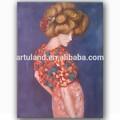 bella ragazza cinese pittura a olio nuda