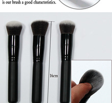 Attention!!! Hansha hot- selling Professional black handle& black tube& brown hair makeup brush set B1