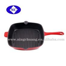 flat cast iron enamel chicken cookware fryer pan